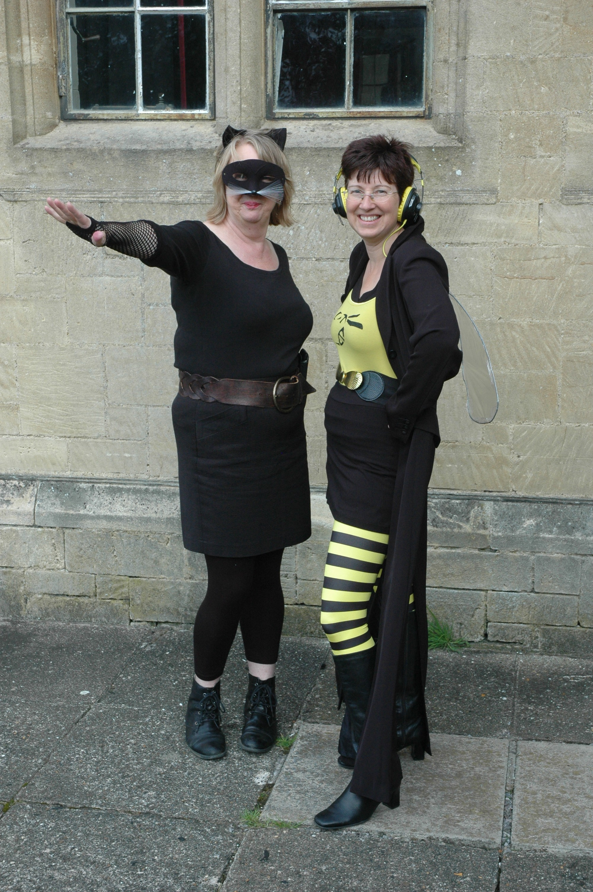 Cat Woman meets The Wasp in the Library